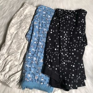 Charter club and Jenni pajama bottoms lot NWT
